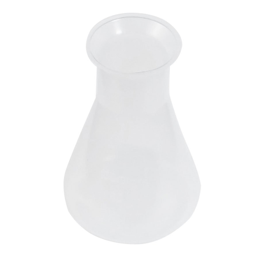 SOSW-100ml Clear White Plastic Laboratory Chemical Conical Flask Bottle