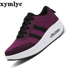 Woman Outdoor Breathable Comfortable Shoes Lightweight  Mesh Sneakers Women High Quality women casual platform shoes