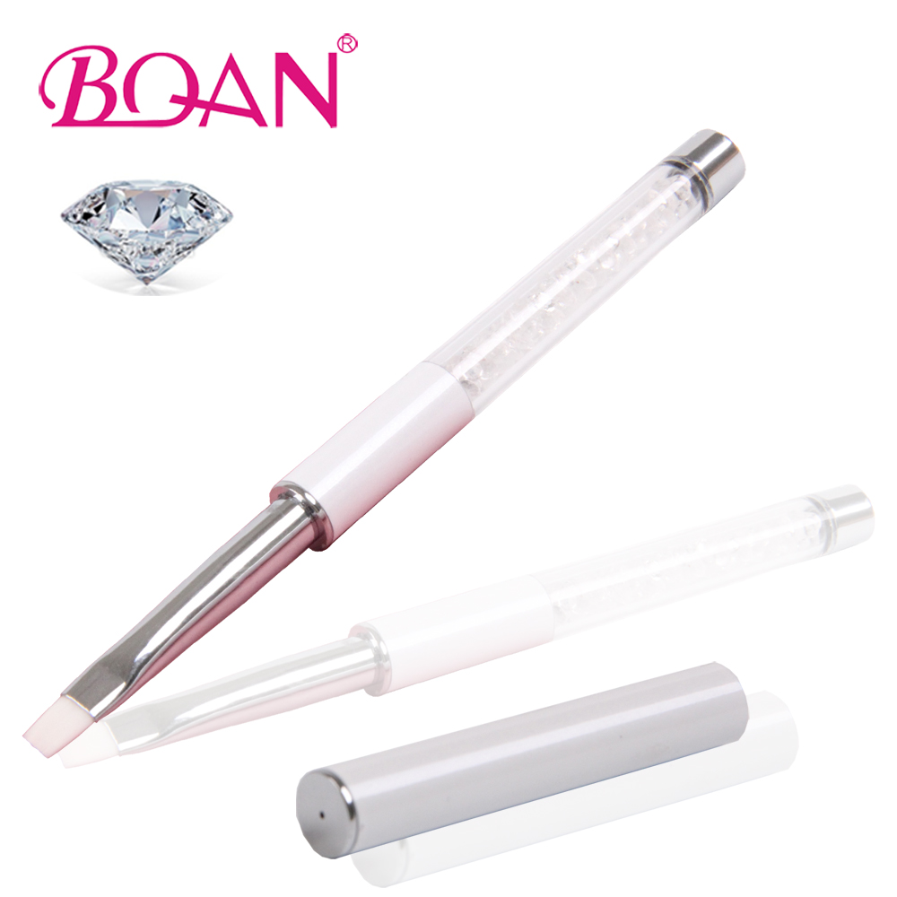 2016 BQAN New Design Fashion White Snow Crystal White Rhinestone Nail Art UV Gel Brush 4 #