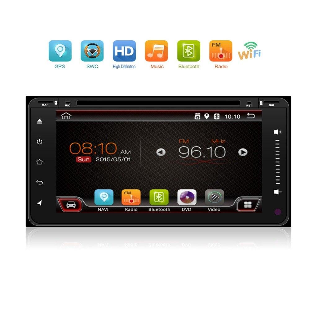 3G/4G Android 6,0 2 Din android car radio del coche DVD GPS para Toyota Corolla Terios Camry prado RAV4 radio Universal wifi ROM 16 GB