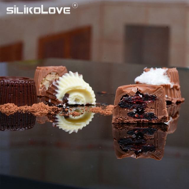 SILIKOLOVE 3D Chocolate Mold Silicone Chocolates Molds for Baking Nonstick Jelly Pudding Sugarcraft Mould DIY Kitchen Bakeware 4