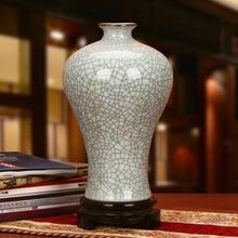 Jingdezhen ceramic vase antique vase vase modern Home Furnishing kiln wire crack decoration decoration цена 2017