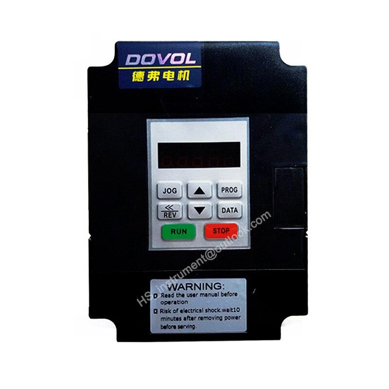 DOVOL DV300-2015-T 220 V, inverseur de contrôle de moteur d'inverseur de fréquence de 1.5KW découpant l'inverseur de convertisseurs de machine