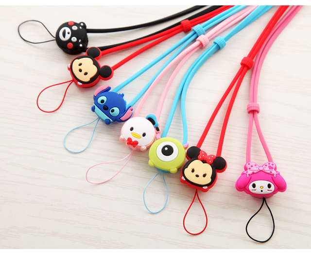 cute cartoon phone strap silicone hell kitty stitch melody daisy mobile  phone straps cute silicone strap for iphone