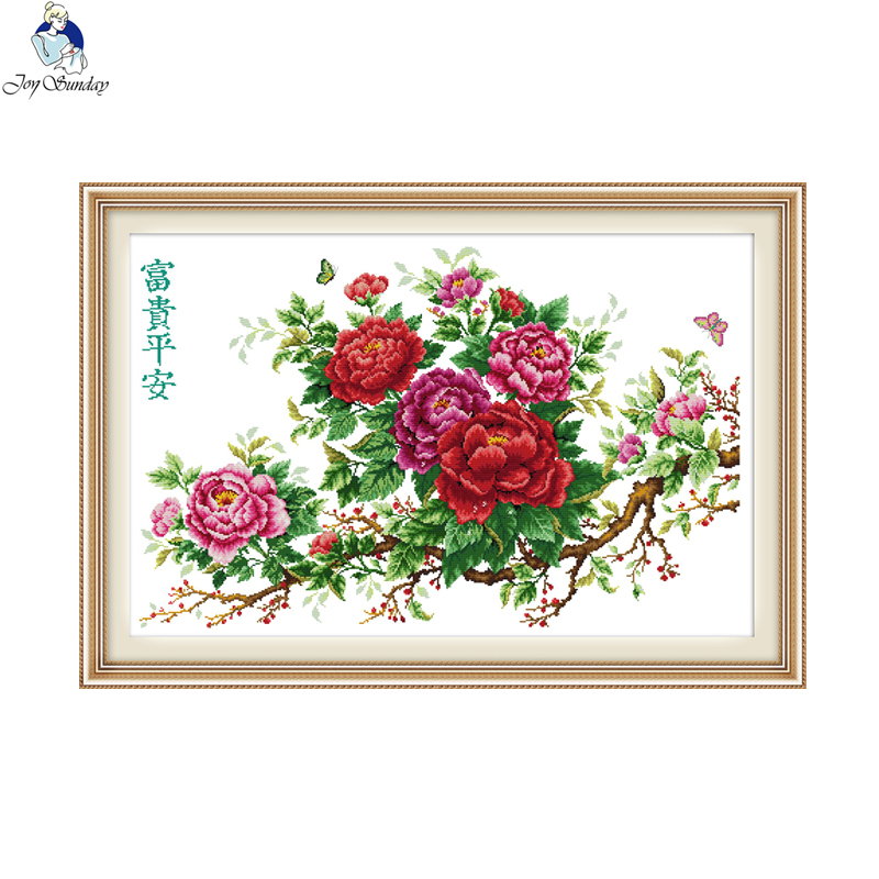 Daisy (6) 48/×35CM Joy Sunday Cross Stitch Kit 14CT Stamped Embroidery Kits Precise Printed Needlework