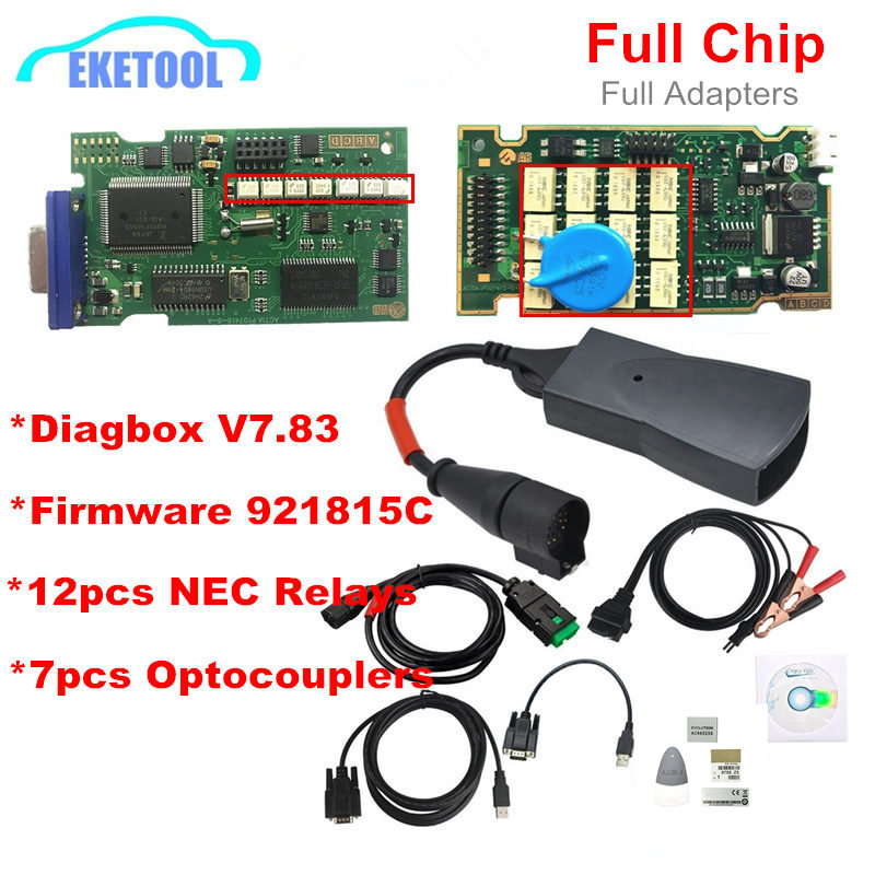 Full Chips Gold Edge Lexia3 PP2000 PSA XS Evolution Diagbox V7.83 Lexia For Citroen/Peugeot Super Firmware Reference 921815C(China)
