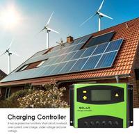 60A LCD Solar Controller 12V24V Battery Solar Charging Controller Regulator