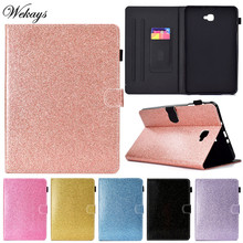 Wekays For Samsung Tab A6 T580 Glitter Bling Leather Case For Samsung Galaxy Tab A6 A 6 2016 10.1 T585 T580 SM-T585 Cover Cases цена и фото