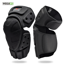 WOSAWE Adjustable Knee Protector Motorcycle Motocross Riding Cycling Skating Ski Pads Kneepads Black Brace Support