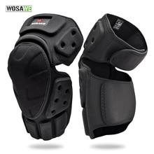 WOSAWE Adjustable Knee Protector Motorcycle Motocross Riding Cycling Skating Ski Knee Pads Kneepads Black Brace Support