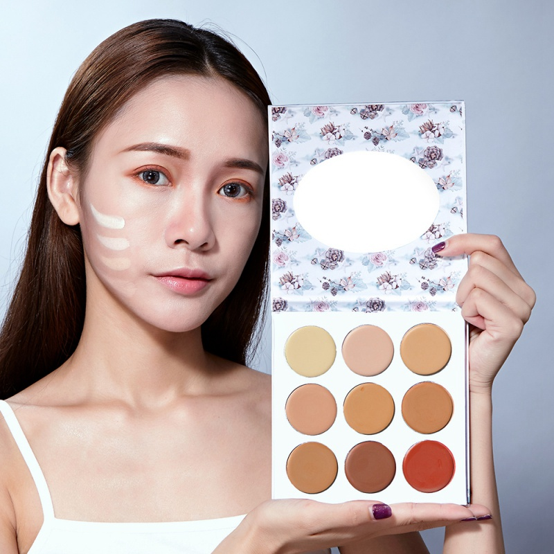 9 Colors Natural Professional Concealer Palettes Makeup Foundation Facial Face Cream Cosmetic Contour Palette concealer palette