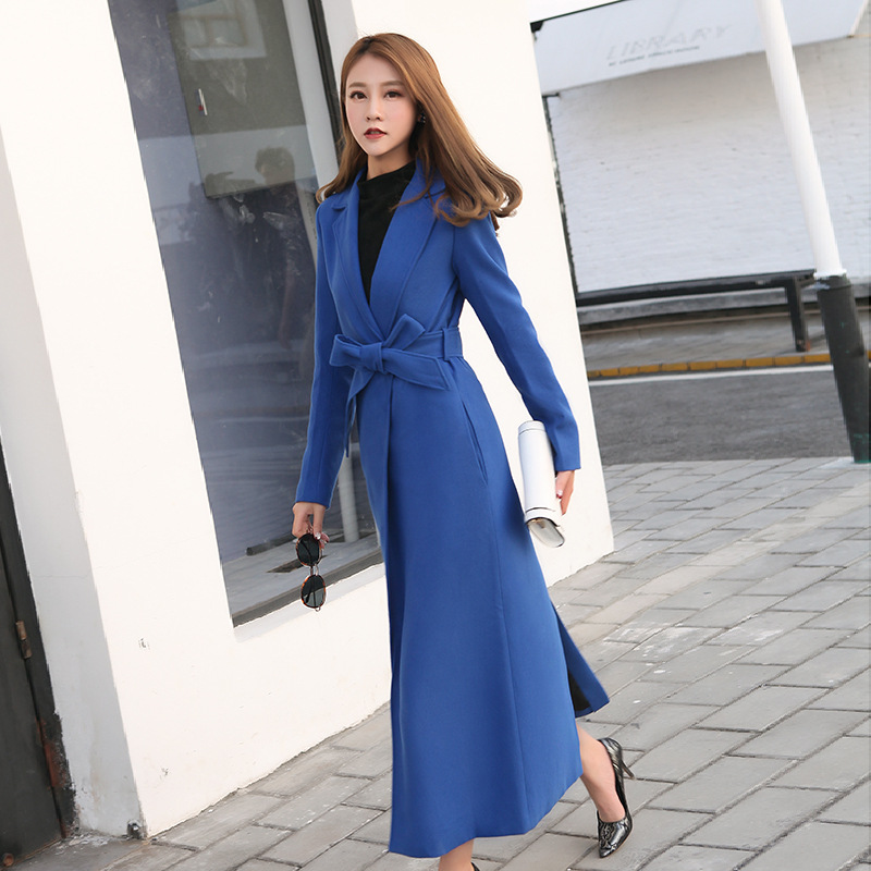Fashion women comfortable thick warm long coat new arrival autumn winter korean OL temperament outerwear high quality   trench