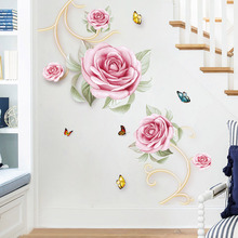 Warm flower stickers Entrance wall decoration Restaurant PVC waterproof self-adhesive sticker TV background poster