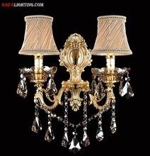 Мода кристалл бра Бра Свет свечи настенный светильник лестницы лампа спальня ночники зеркало света