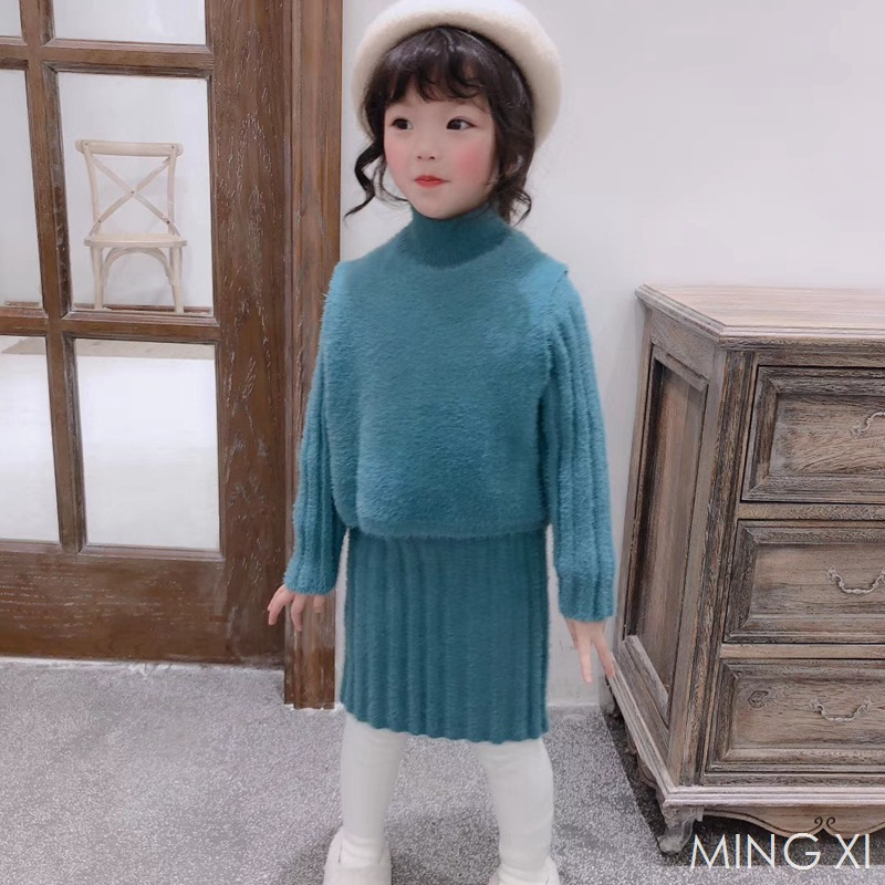 2018 winter new childrens clothing set childrens sweater girlssweater two-piece winter new style2018 winter new childrens clothing set childrens sweater girlssweater two-piece winter new style
