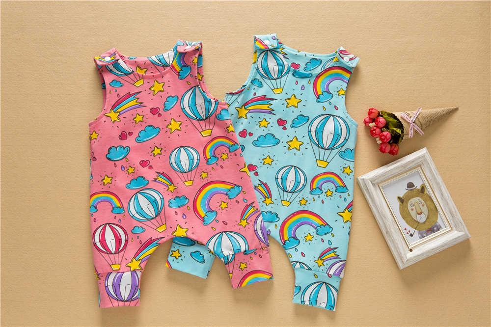 0-24 M lindo mamelucos de bebé recién nacido ropa de algodón de niño azul ropa de verano Unisex mono infantil otoño mono rosa dibujos animados