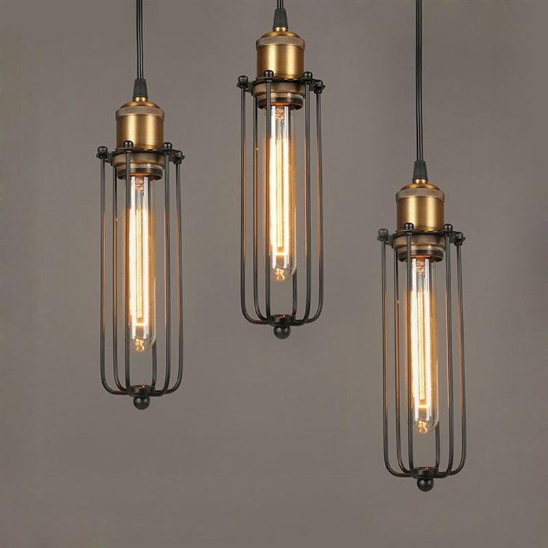цена Hot Steampunk Vintage Pendant Lights For Dining Room Bar Rust Red Home Decoration American Industrial Loft Pendant Lamp