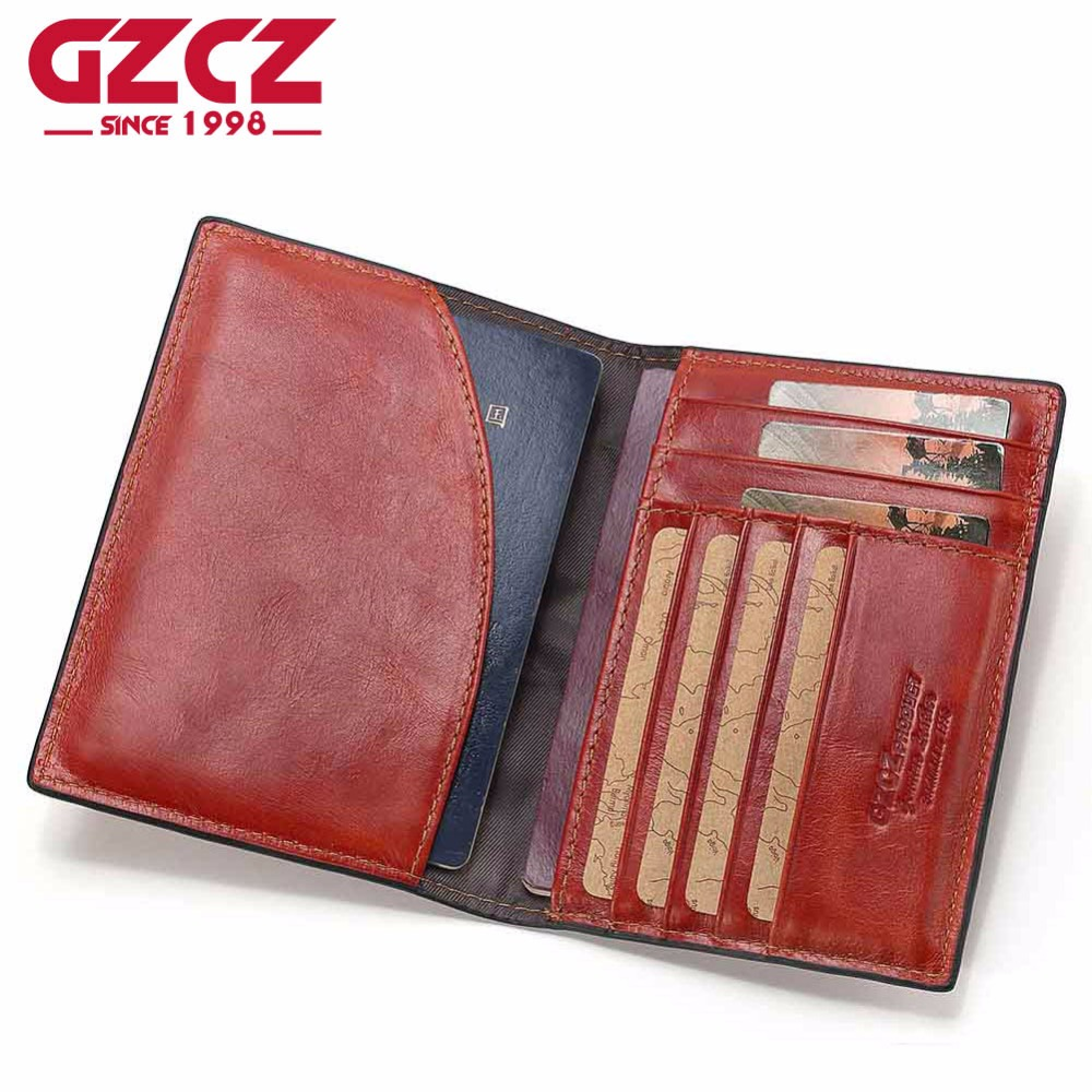 GZCZ Genuine Leather Women Wallet Female Passport Card Holder Coin Purse Small Walet Clamp For Money Super Thin Portomonee brand passport women wallets case travel leather wallet female key coin purse wallet women card holder wristlet money bag small
