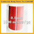 1000 метров/шт QA-1-155 Красный Обмоточного Провода 0.1 мм Медного провода эмалированные Магнитного Обмотки 0.1 мм