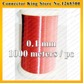 1000 meters/pcs QA-1-155 Red Magnet Wire 0.1mm Enameled Copper wire Magnetic Coil Winding 0.1 mm