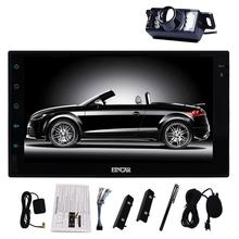 "Free Backup camera Android 6.0 2 Din 7"" Capacitive Screen Car Stereo GPS Navigation Vehicle Audio FM Radio Bluetooth/WiFi/1080P"