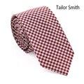 Портной смит мужские свободного покроя мода конструктор 100% хлопок плед галстук высокое качество ну вечеринку проверьте тонкий галстук ручной работы Cravate аксессуар