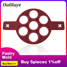 1PCS Kitchen Pan Cooking Baking Accessories Silicone DIY 7 Holes Mold Form for Fried Eggs Frying Molds Pancake Maker Bakeware