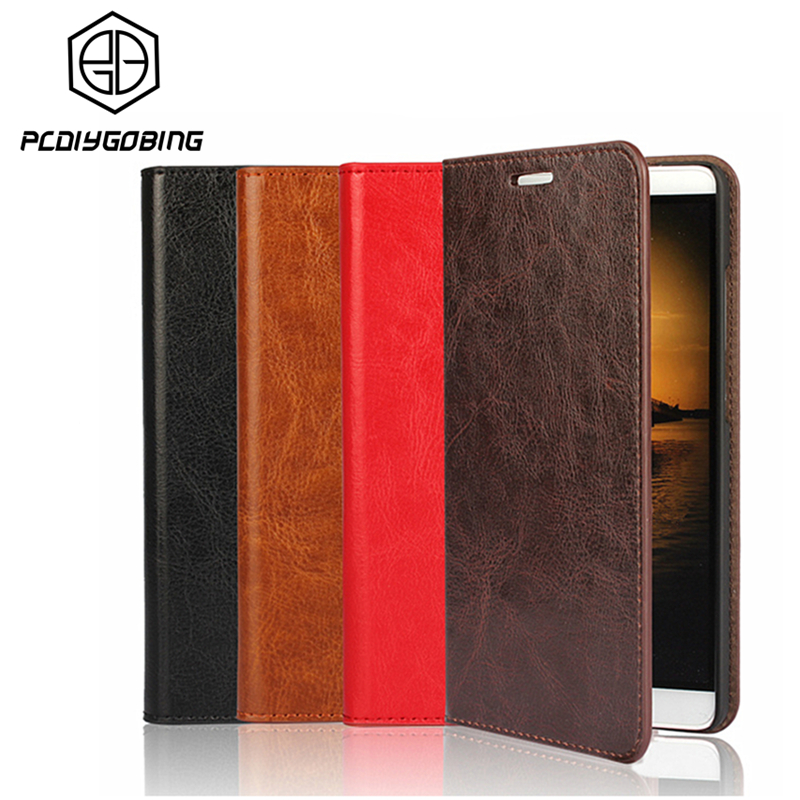 Luxury Wallet Stand Cover Real Cowhide Genuine Leather Case For Huawei P9 Lite P10 Plus P8 Lite 2017 Honor 5X 6X GR5 Mate 7 8 9