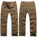 Бесплатная доставка 2015 Большой размер осень и зима мужской свободного покроя брюки мужчина брюки комбинезоны прямые длинные брюки размер 52