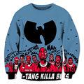 Wu tang clan hip hop dos homens 3d camisolas hoodies impressão harajuku lazer moda crewneck streetwear plus size 4xl 5xl clothing