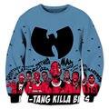 Wu tang clan hip hop hombres 3d sudaderas sudaderas con capucha de impresión harajuku ocio cuello redondo de moda streetwear clothing plus tamaño 4xl 5xl