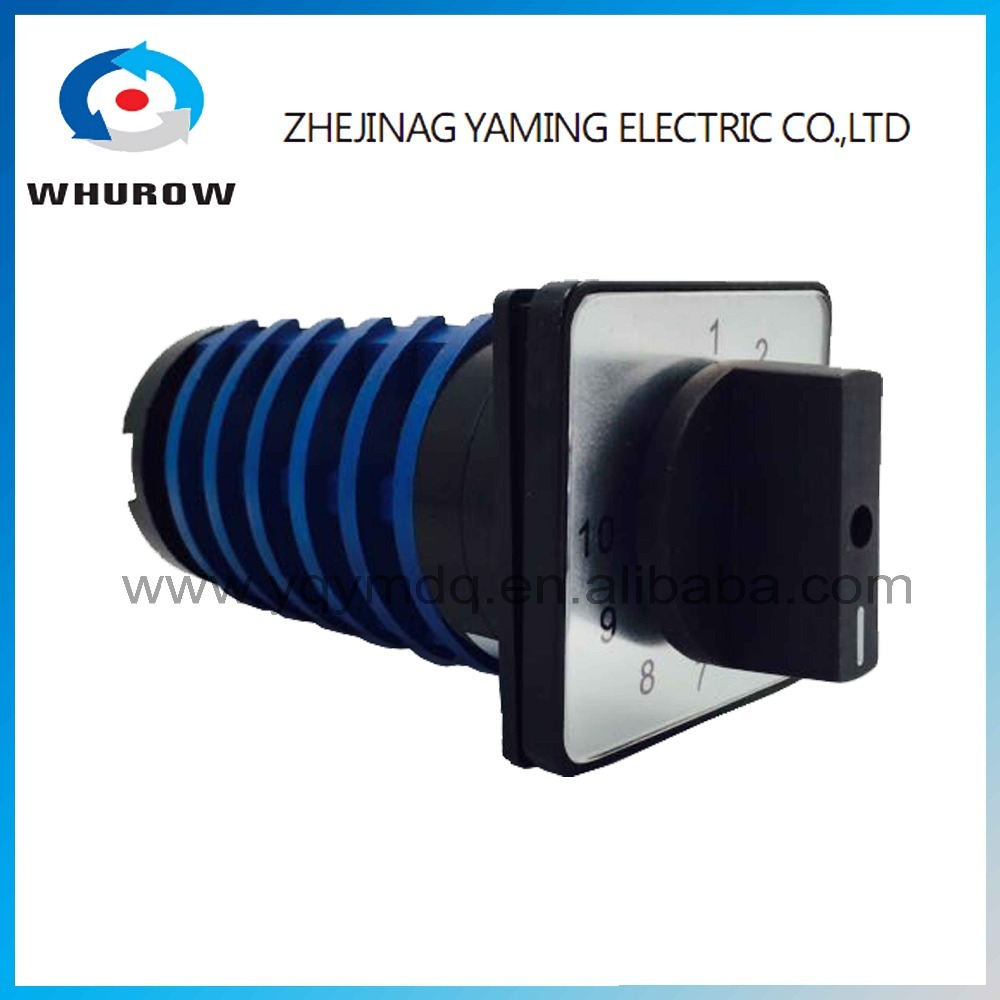 цена на KDHC-32/6X10 electrical switches for welding machine 10 position 6 poles High quality changeover rotary switch AC50Hz 32A 690V