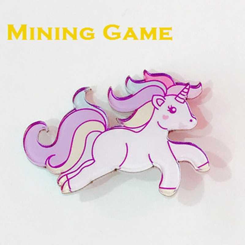 Rainbow Unicorn Cavalo Bonito Tema Broche Coroa Brinquedo Saco de Roupas DIY Decoração Do Partido Suprimentos Favor Crianças Gril Amigos Presentes