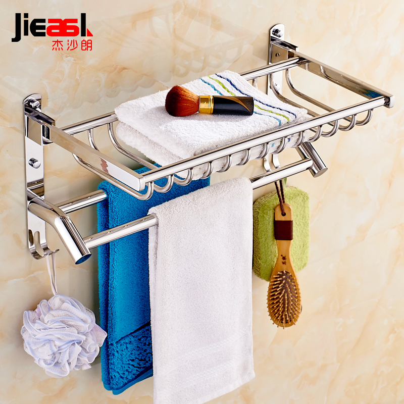 Aliexpress.com : Buy 304 Stainless Steel Towel Rack Movable Bath ...