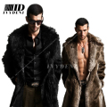 Men Fur Coat Winter 2015 Plus Size Faux Fur Coat Men Parka Jackets Full Length Leather Overcoats With Collar Long Fur Coat Man