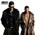 Men Fur Coat Winter 2015 Plus Size Faux Fur Coat Men Parka Jackets Full Length Leather Overcoats With Collar Long Fur Coat Man