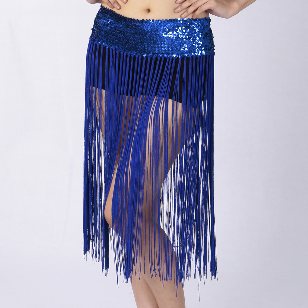 Belly Dance Fringe Skirt Hip Dance Scarf Dancing Costume Tassel Skirt