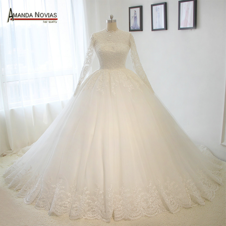 Online shop puffy ball gown lace wedding dress muslim vintage bridal online shop puffy ball gown lace wedding dress muslim vintage bridal dresses 2017 new aliexpress mobile ombrellifo Choice Image