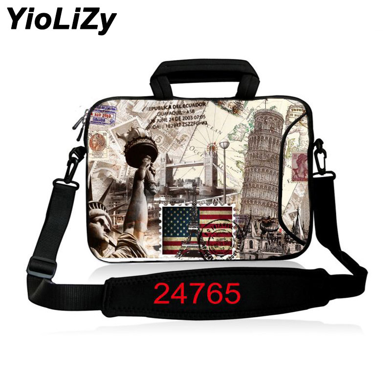 9.7 12 13.3 14.1 15.6 17.3 inch women Laptop Messenger bag men PC Notebook shoulder sleeve protective case With strap SB-24765 ...
