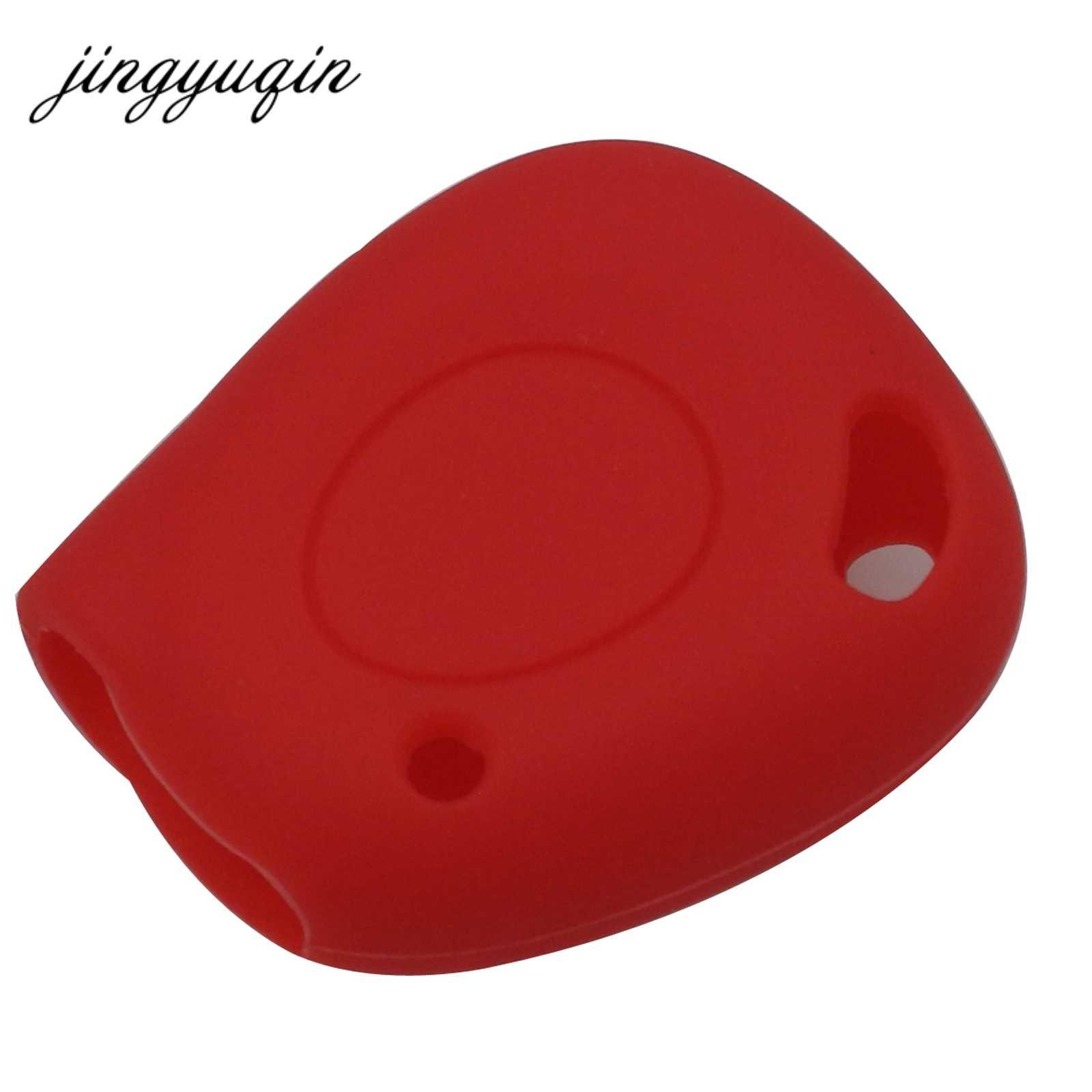 Jingyuqin 1 düğme silikon anahtar kılıfı uygun Renault Megane Clio Scenic 1BN IR uzaktan Fob kapak koruyucu