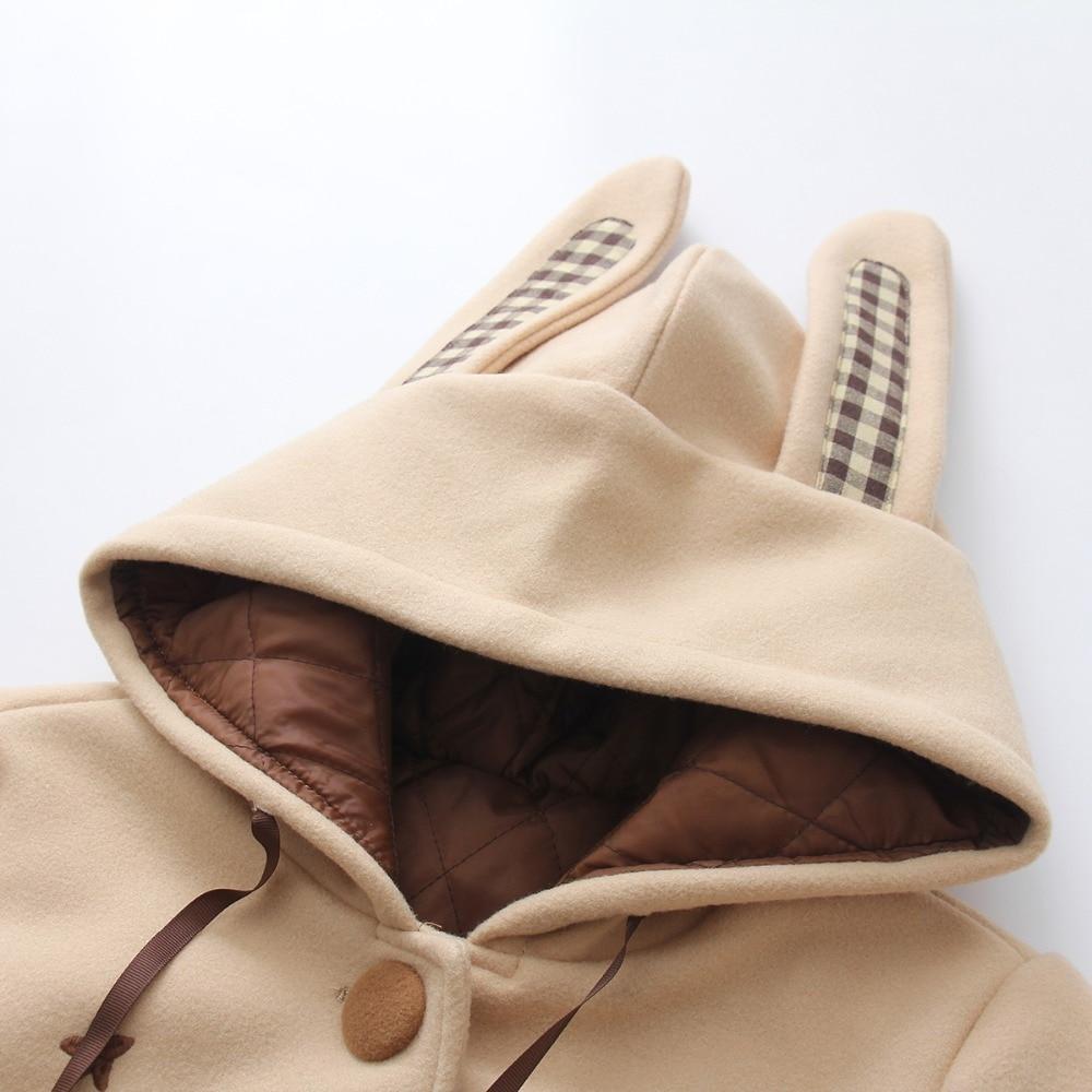 Mode Poitrine Longues Vestes Gx1705 D'extérieur D'hiver Manches Femme Mignon Laine Unique À Khaki Hauts Manteaux Capuche Nouvelle Épaississent Broderie 8wH8xq6P