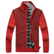New winter new men's casual men's sweater cardigan sweater men plus velvet jacket Lager Size fashion Outwear Coat M-XXXL