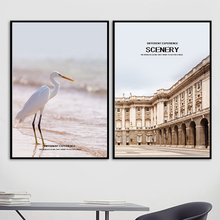 цена European Architectural Landscape Bird Nordic Posters And Prints Wall Art Canvas Painting Wall Pictures For Living Room  Decor в интернет-магазинах