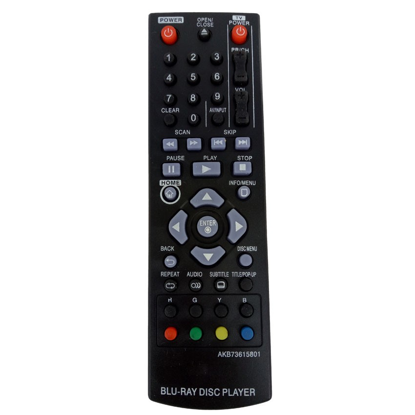 New Remote Control For LG Blu-ray DVD Disc Player Remote Control AKB73615801 FOR BP220 BP320 BP125 BP200 BP325W 1 pc new replacement tv remote control for samsung ak59 00172a for dvd blu ray player bd f5700 without battery