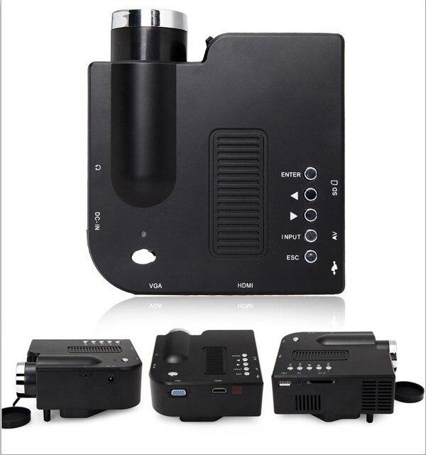 Скидка из светодиодов проектор встроенный динамик домашняя игра развлечения портативный tft-hdmi USB SD Proyector дешевые значение лучемет