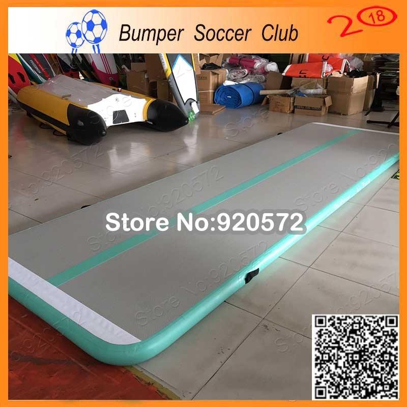 Livraison gratuite pompe gratuite, 6 m Mintgreen gonflable piste d'air gymnastique gonflable piste d'air tapis de Tumbling Gym AirTrack à vendre
