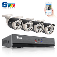 SW New Arrival 4CH 1080N HD CCTV System 720P 1800TVL HD Outdoor Weatherproof Security Camera Home