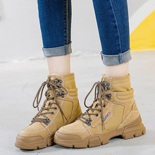 winter leather martin  fashion womens boots shoes women for girls ankle