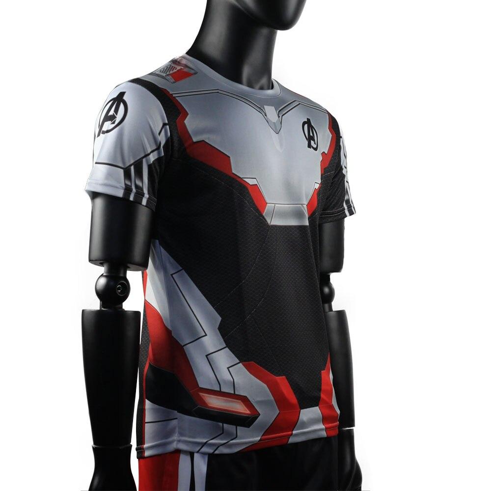 3D Avengers Endgame Realm Cosplay T-shirt Iron Man Captain Marvel Captain America Black Widow Costume Sport Tight Tees Dropship22
