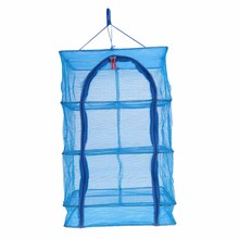 40 x 40 x 65cm 4 Layers Fish Drying Net Durable Drying Rack Folding Hanging Vegetable Fish Dishes Dry Rack PE Hanger